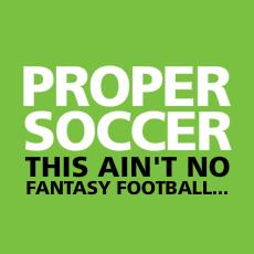 Proper Soccer Back Cover
